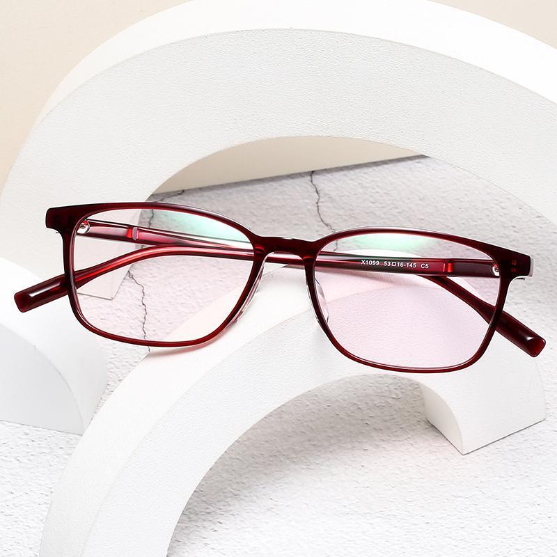 Logorela 1099 خلات النظارات البصرية الإطار نساء ريترو ساحة خمر النظارات الطبية النظارات قصر النظر نظارات