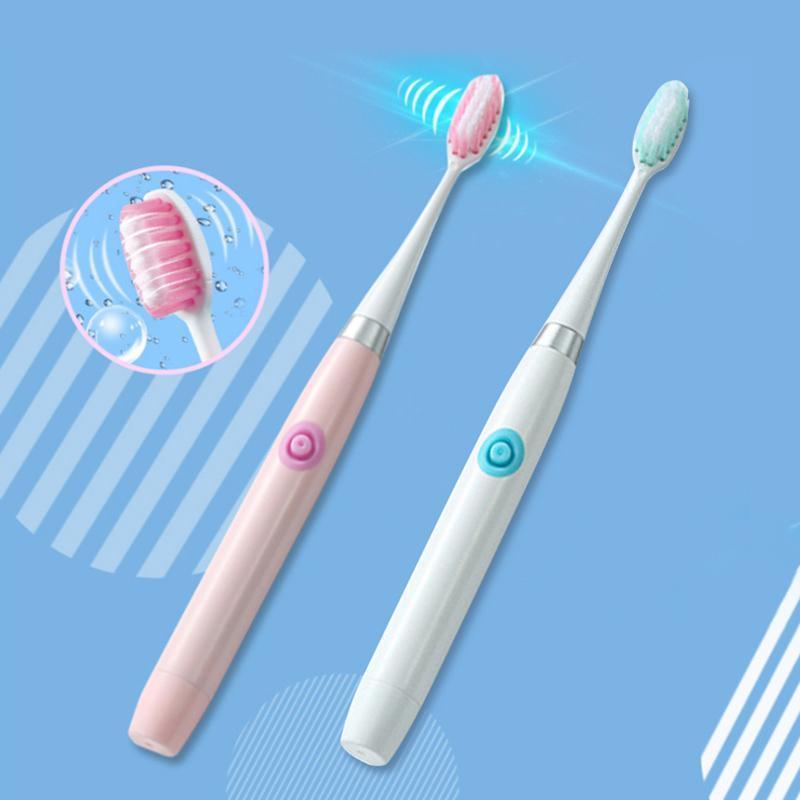 Flykul escova de dentes elétrica do Sonic Aceno dentes portátil de dentes escova para Crianças escova cabeça substituível