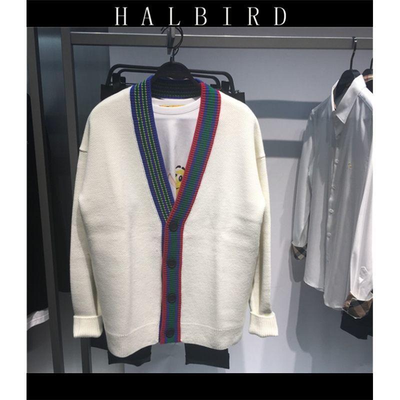 Autunno / Inverno 2020 Nuovo maglione a maniche lunghe per uomo con scollo a V allentato per uomo