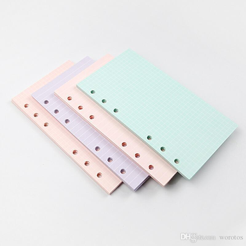 New 5 Colors A6 Loose Leaf Solid Color Notebook Refill Spiral Binder Index Page Planner Agenda Inner Filler Papers Notebook Accessories