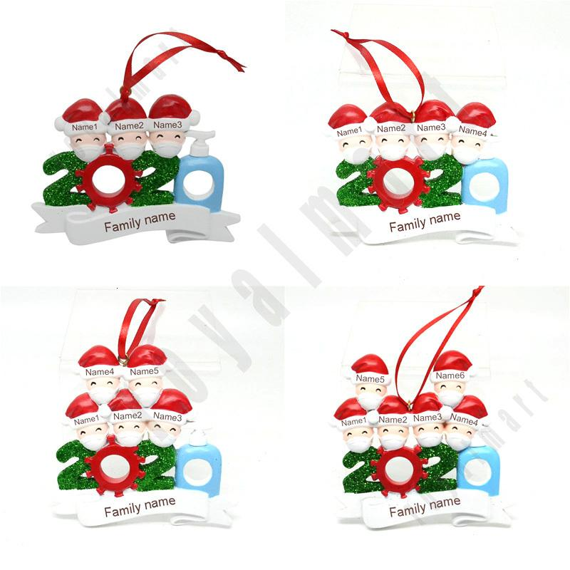 Nuovo Decorazione di Natale fai da te Nome Benedizione Maschera del pupazzo di neve albero di Natale appeso a sospensione Decorazioni di Natale di trasporto