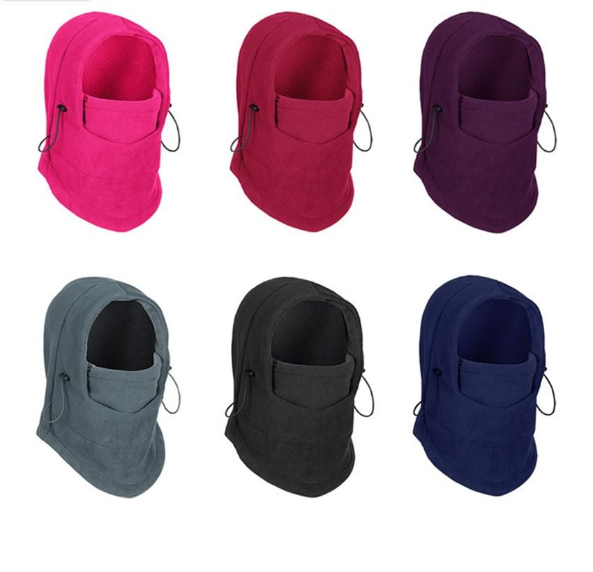 Unisex Outdoor Fleeced Hat Windproof Full Face Mask Cover CS Hats Motorcycle Masks Scarf Winter Warm Ski Cycling Caps Head Cover F102103