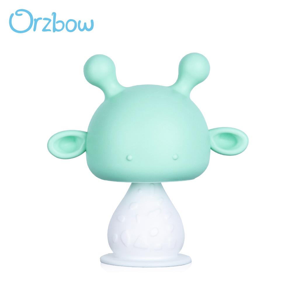 Orzbow bébé Jouets silicone Tétines Tétines pour nouveau-né Imiter Titiller Teether Fawn silicone Rattle enfant en bas âge Toy cadeau de baby shower 201017