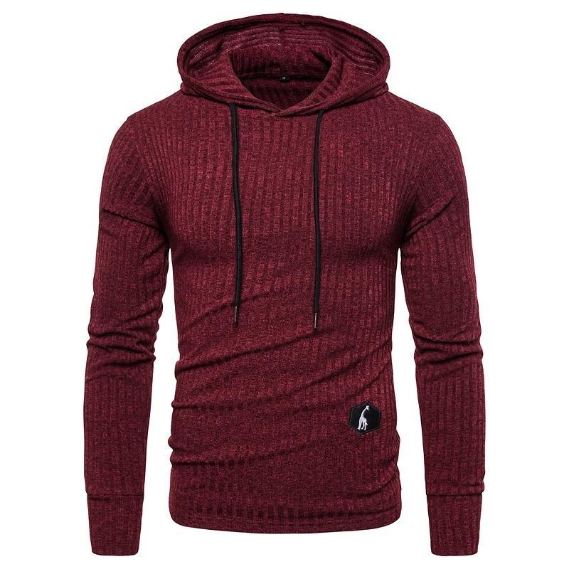 New New Spring Mens Moletom Moletom Com Capuz Sólidos Casual Elasticidade Slim Fit Pullover Hoodies Homens Streetwear Hoodies Sporting 20128