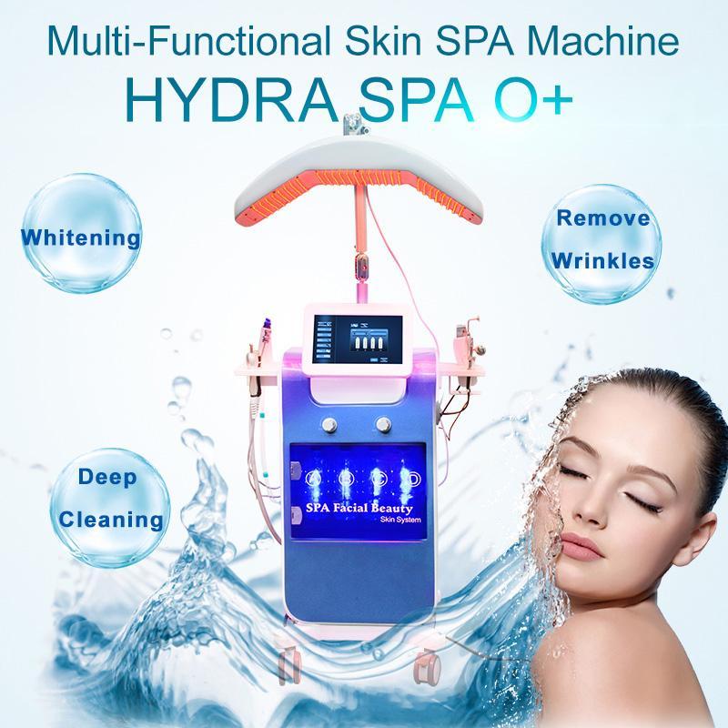 Máquina de pulverización de oxígeno Máquina facial Hydro Care Galvanica Instrumento facial para la extracción de hidratación de la piel y reafirmante con Bio Photon