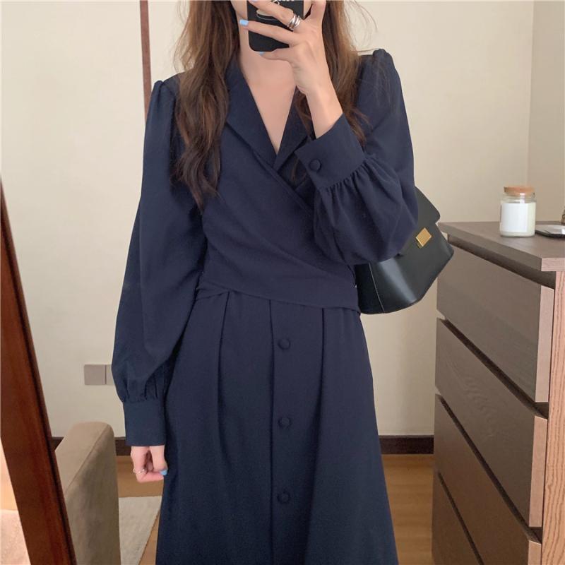 Новые весенние платья девушки бохо твердое женское винтажное платье вечеринка негабаритные женские платья с длинным рукавом одевает халат Vestido