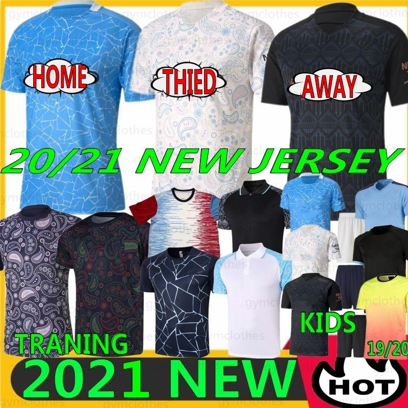 Tailandês 21/22 Nova Jersey City Sterling de Bruyne Kun Aguero Ferran Traning Camisa de Futebol Homens Kits Kits G. Jesus Mahrez