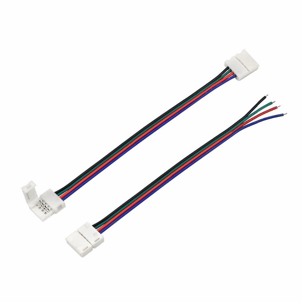 5pcs 4Pin 10mm 5050 SMD RGB LED Strip luz acessórios para SMD 5050 RGB lâmpada de fita tape