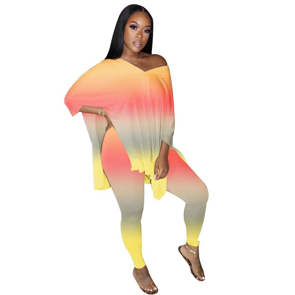 Invierno Mujeres Sportwear linda de impresión sudaderas y pantalones Top juegos de dos piezas Conjunto jogging Femme chándal Negro Gris