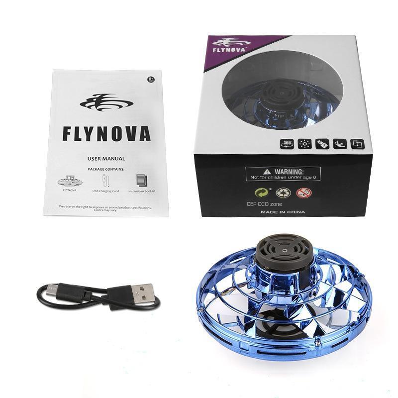 Rotas Flynova vôo giroscópio grátis Ufo Boomerang Fidget Spinner Indução Aircraft colorida Box Battery Metalworking flash bbynLd bde_luck