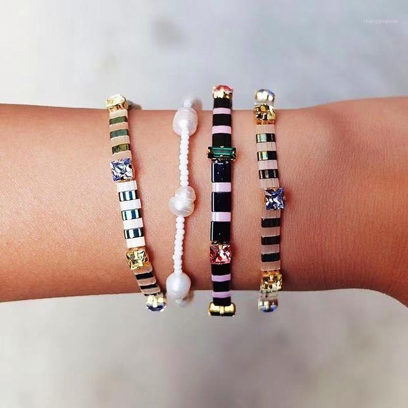 2020 Novos Pulseiras Boho Miyuki Tila Grânulos Pulseira Mulheres Beach Jewelry Moda Arco-íris Pulseira Acessórios para as Mulheres Novo1