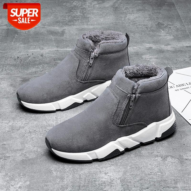 2021 Männer Arbeitsstiefel Plüsch Pelz Freizeitschuhe für Mann Marke Retro Winterschuhe Herrenstiefel Mode Zapatos de Mujer # WN45