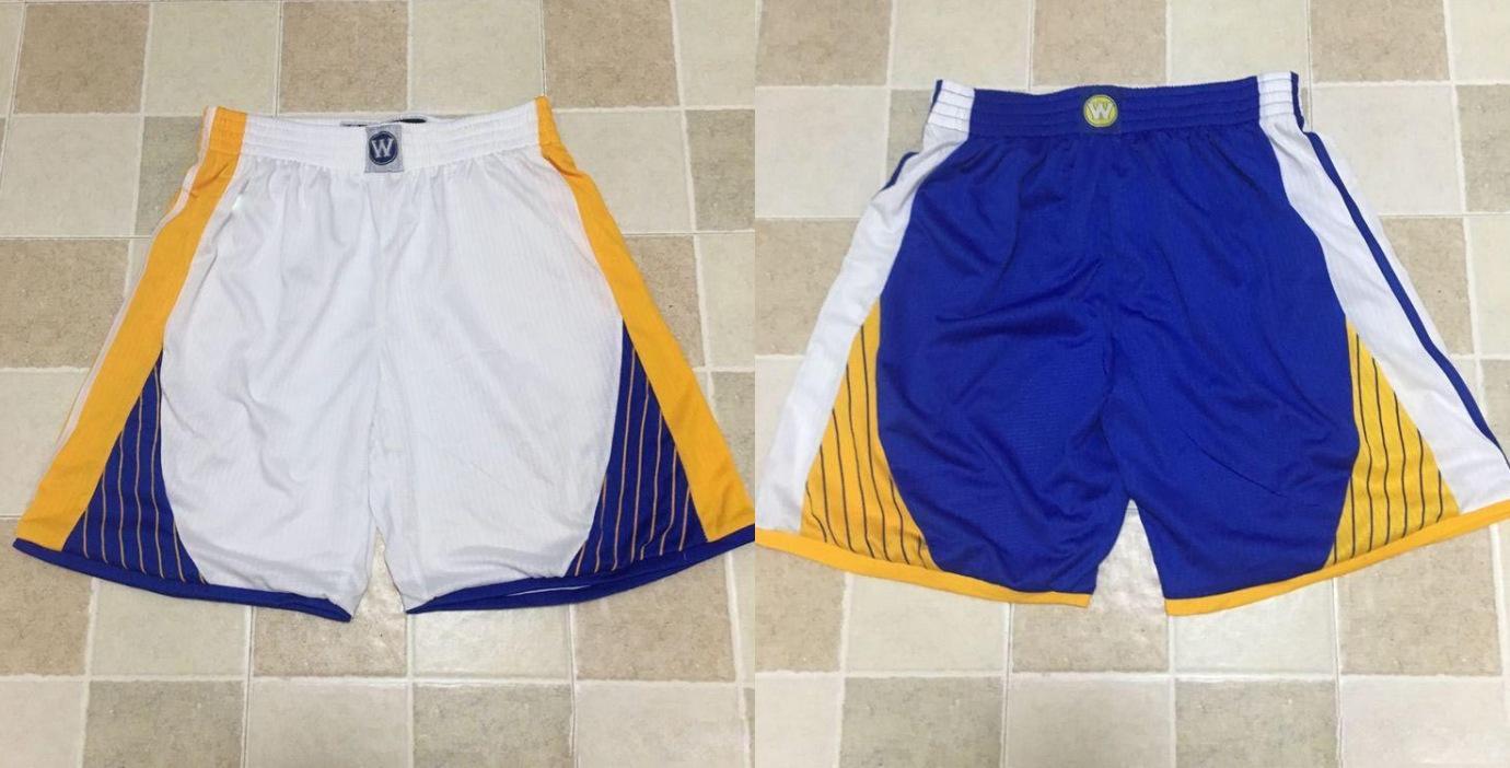 Goldener ZustandKriegerMänner Royal Icon White Association Performance Basketball Shorts