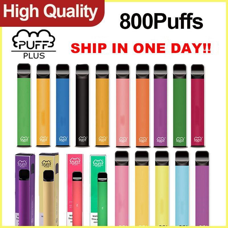 Puff Plus 800 Puffs Disposable Vape E Cigarette Disposable Device 3.2ml Pod With Security Sticker 60+ Colors Puff Bar Plus