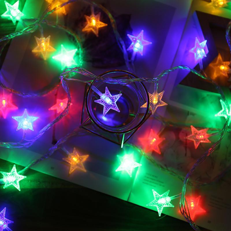 lámpara, batería de Led color estrella parpadeante luz de la secuencia, USB luz nocturna, lámpara de decoración de la habitación de la niña del corazón