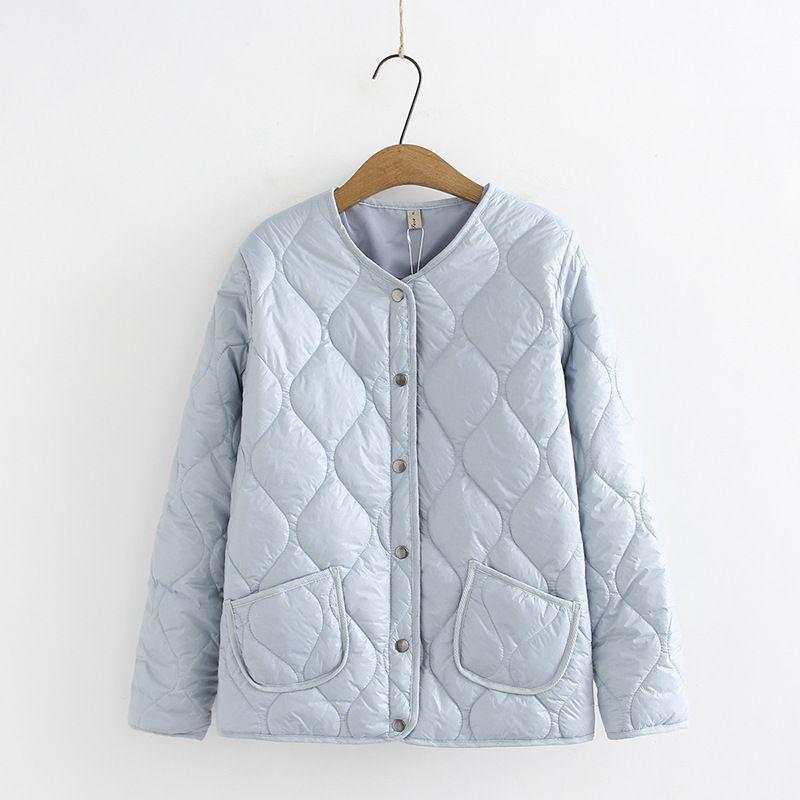 Wintermäntel für Frauen Plus Size Einreiher voller Hülse Thin Short Parka Jacke Damen Herbst-Jacke 1014