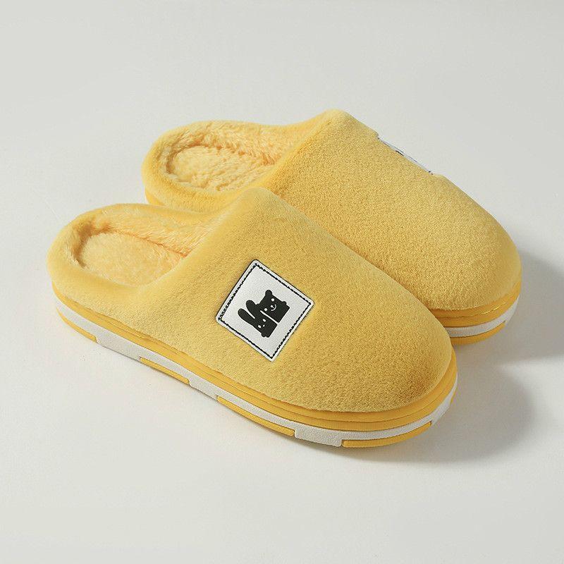 Женщины мультфильм милая тапочка домашняя хлопчатобумажная обувь зимний противоскользящий теплый утолщенный тапочка крытый плюшевые тапочки женские дома обувь