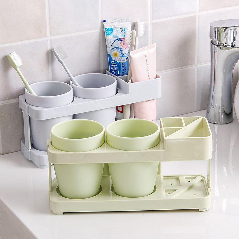 الملحقات 3 ألوان مجموعة فرشاة الأسنان الكهربائية حامل الجدار الخيالة التلقائي موزع معجون الأسنان الحمام تخزين الرف T200507