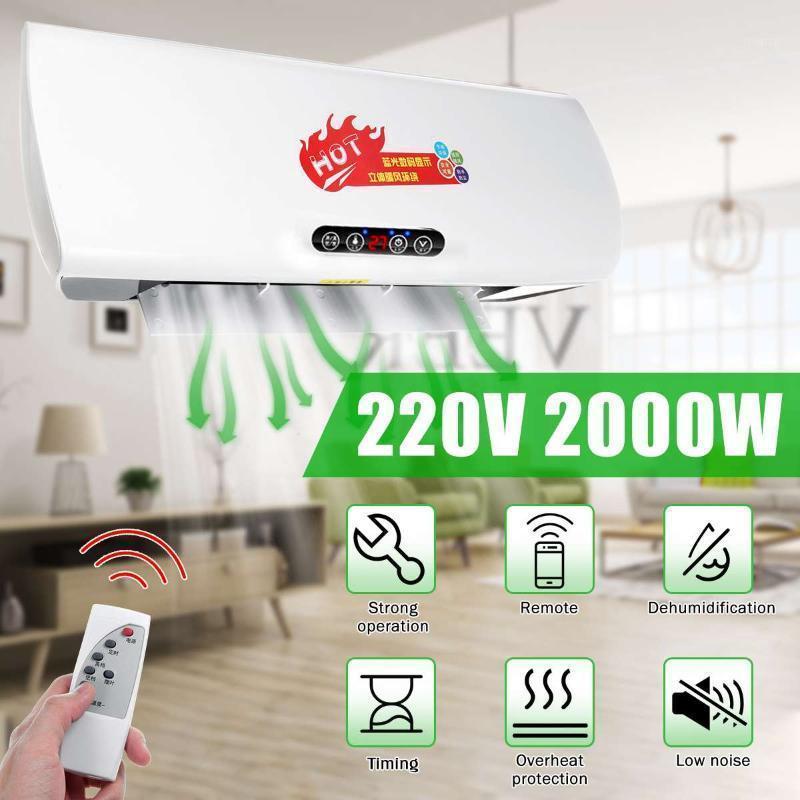 Hauteur de climatisation murale LED Chauffage électrique 2000W climatiseur PTC chauffage électrique 8 heures Timètre dehumidificateur1