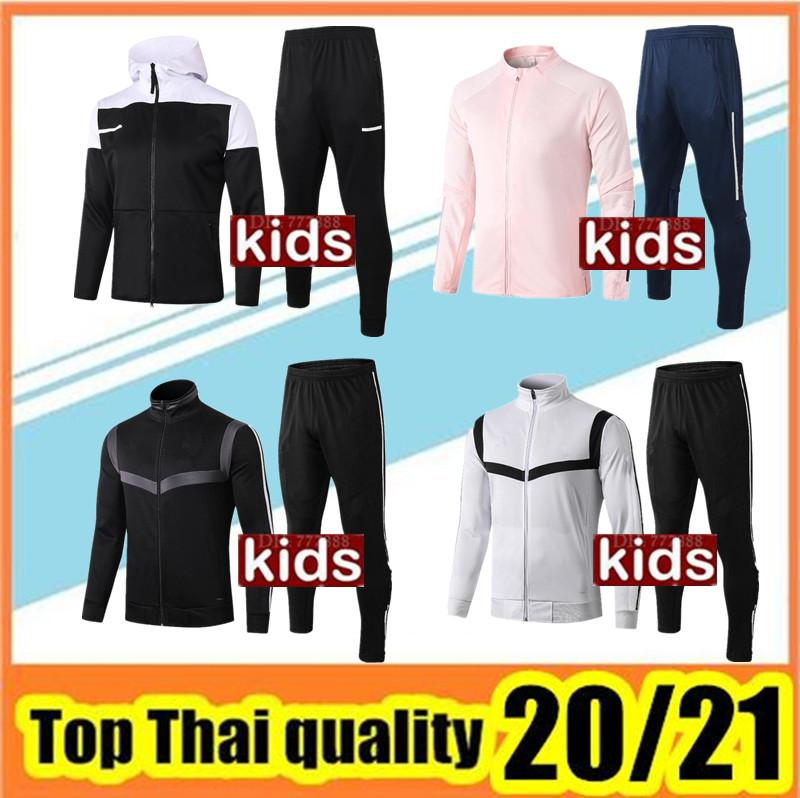 20 21 kids soccer jacket training suit 2019/20 child jackets kit full zipper football jacket sweater tracksuit