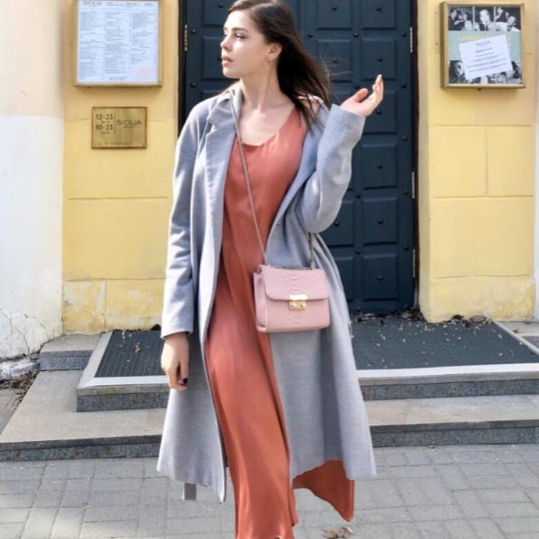 2020 women long maxi dresses Spring Summer Women Satin Dress Party Luxury Shiny Sundress Imitation Silk Dress