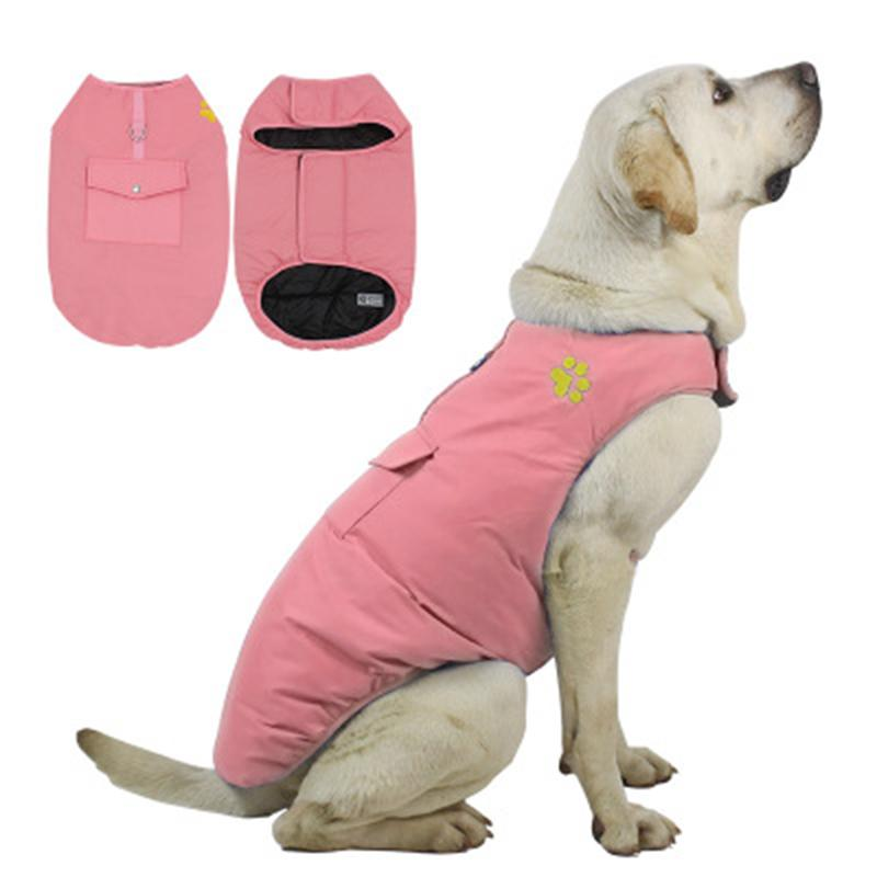 Big Dog Roupas Inverno Roupas Casacos Quentes Impermeáveis Veste Quente Dupla Face para Teddy Golden Retriever Bulldog