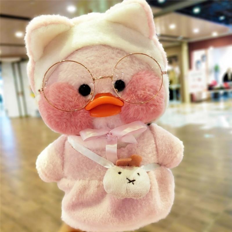 30cm koreanische Netred trägt Hyaluronsäure wenig gelbe Ente Puppe Lalafanfan Enten Plüsch weiche Spielzeug Hohe Qualität Geburtstagsgeschenk Q1219