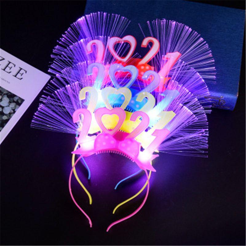 Oyuncaklar Yanıp Sönen LED Işık Işık Glow Bandı Göz Giyim Düğün Doğum Günü Partisi 2021 Yıl Hediye