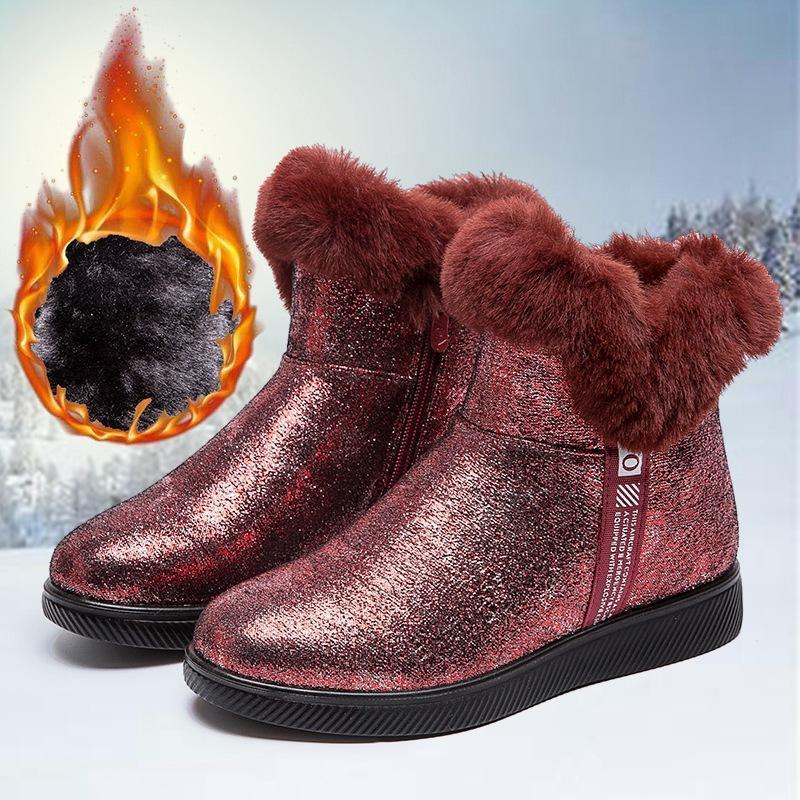 HOT Bottes femmes Chaussures hiver plus chaud Taille Plate-forme Femme chaud Botas Mujer 2020 bottillons cheville pour les femmes Bottes de neige noir