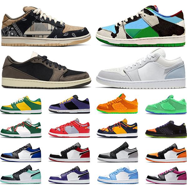 nike sb dunk low Chaussures de planche à roulettes Chunky Dunky Bears Green Chicago 1s Low Shattered Backboard Chaussure de basket-ball pour hommes  Baskets