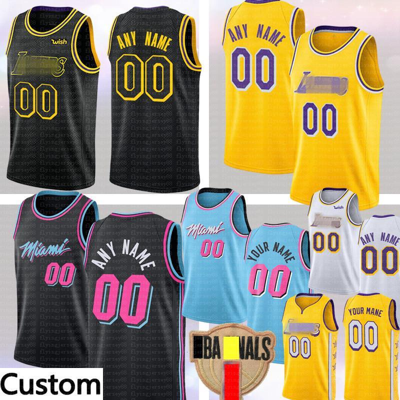 Costumbre JR Smith 21 Los ÁngelesLakersJersey MiamiCalorCualquier nombre jerseys del baloncesto 14 Verde Bradley Morris Haslem luto