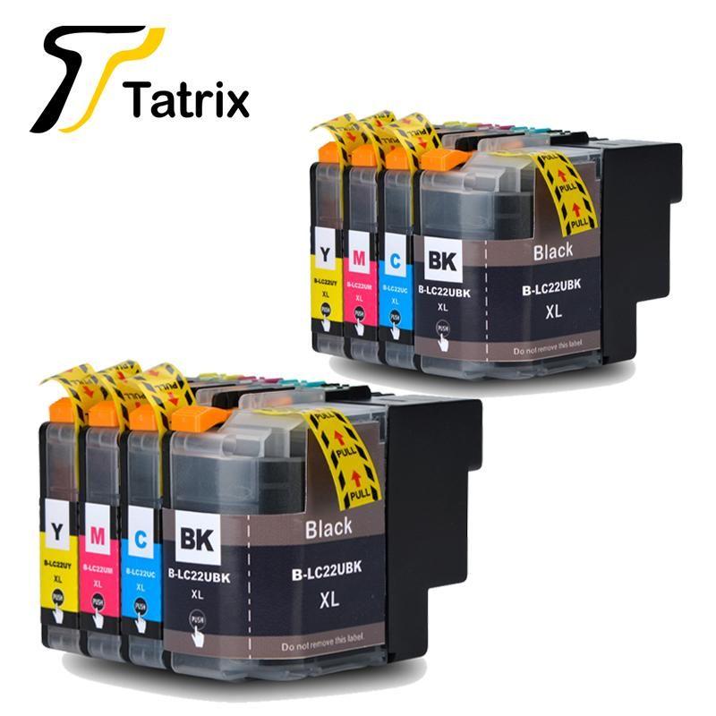 Tatrix compatível para o cartucho de tinta completo LC22uxl 22uxl LC22U BK / C / M / Y para o Brother -J785DW Impressora MFC-J985DW