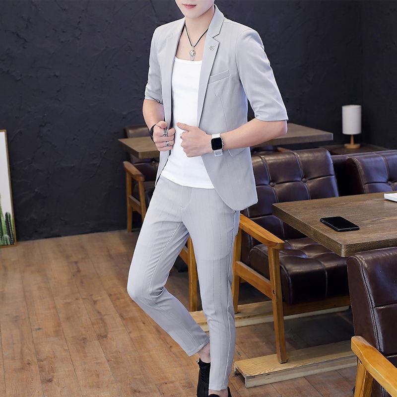 2019 İnce Erkek 3 parça seti Smokin Blazer toka Erkekler Suit Wedding Biçimsel Business Tek (Ceket + yelek + Pantolon) artı