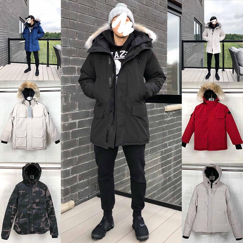 2020 hommes Designer femmes manteaux d'hiver vers le bas Parkas vêtements d'extérieur à capuche coupe-vent grande fourrure 20ss homme gilet vers le bas vestes manteau Manteau Hiver