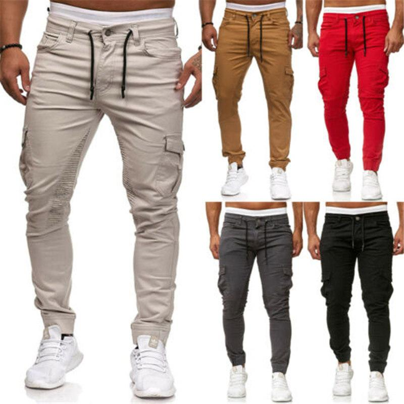 Erkek Spor Pantolon Uzun Pantolon Eşofman Fitness Egzersiz Joggers Gym Sweatpants Erkekler Rahat Katı Uzun Pantolon
