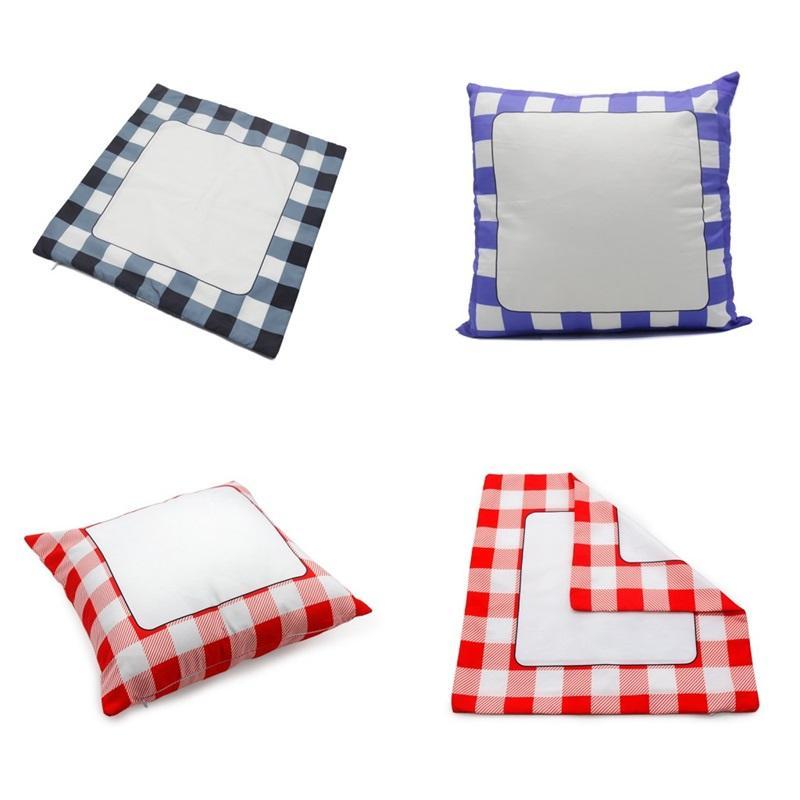 Sublimation Blanks Kissenbezug Gitter Digitaldruck DIY Schlafzimmer Wohnkultur Kissenbezüge Neue Muster Rote Womens 6 5EX M2