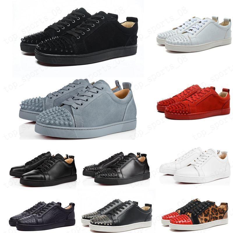 Novos tênis 2020 Sapatilhas Vermelhas Shoot Baixo Corte Sapatos de Spike para Homens e Mulheres Sapatos Festa Cristalystal Cristalystal Rebite Sneaker