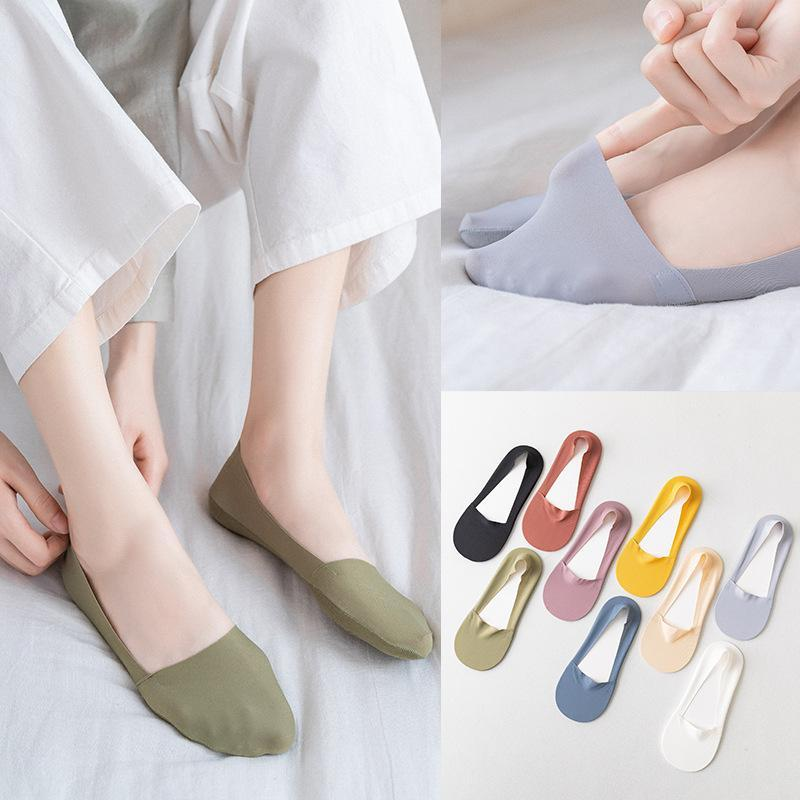 Socken Strumpfwaren Frauen Mode Socke Hausschuhe 2021 Sommer Kurzer Festkörperfrauen Hochwertige feinere weibliche koreanische Art