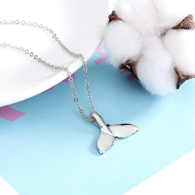 Yeni Moda Parlak Fishtail Kolye Kısa Kolye DMFN619 (Zincir Ile) Mix Sipariş Parçaları Kolye Kolye