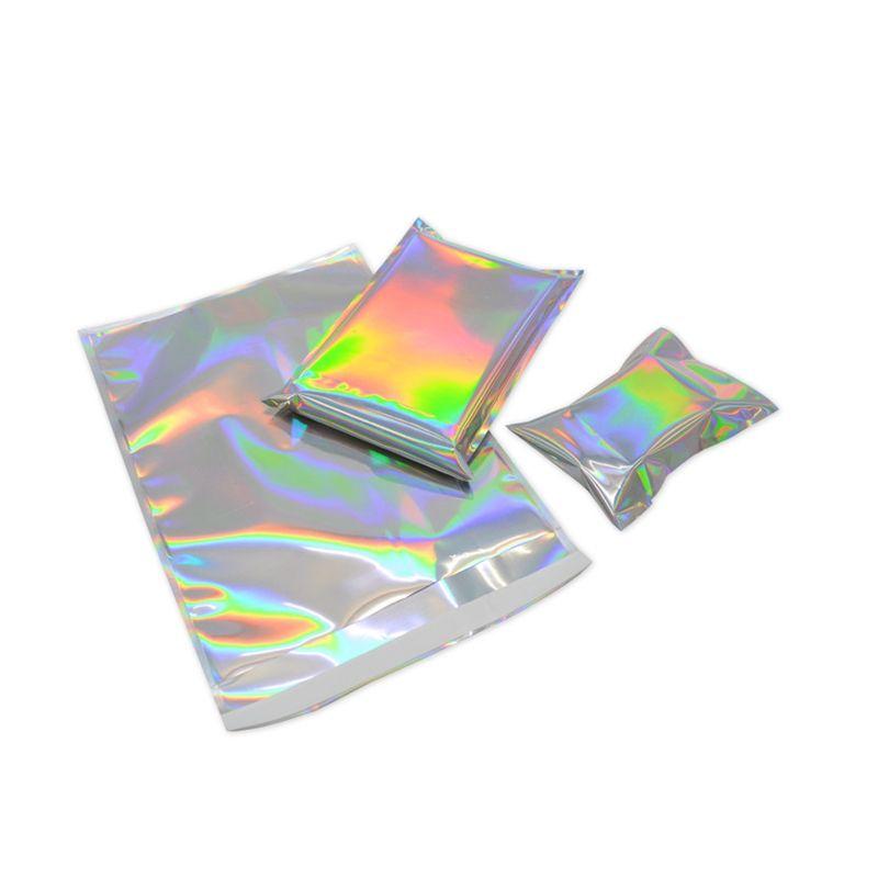 200pcs Laser самоклеющихся Пластиковые конвертов Почтовых мешки для хранения Голографических подарков ювелирных изделий Поли Клей Courier Упаковка мешка