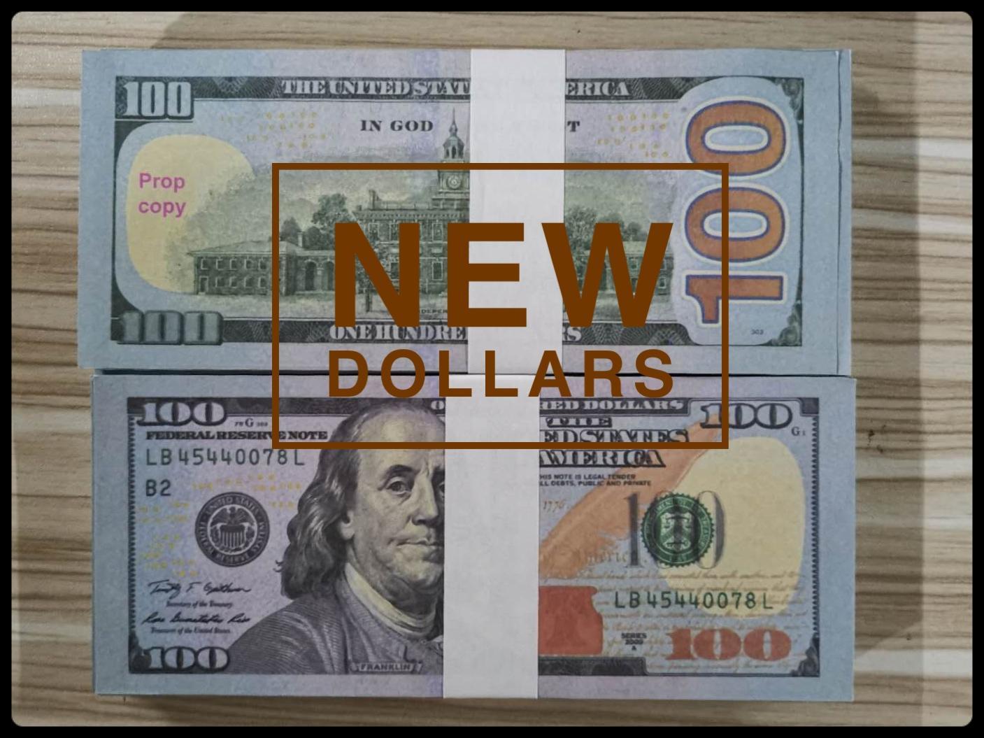 US Dollar Heiße Verkäufe Gefälschte Geld Movies Prop 100-Dollar-Banknote Zählen Prop Geld Festliche Party Games Spielzeug Kollektionen Geschenke ndN100