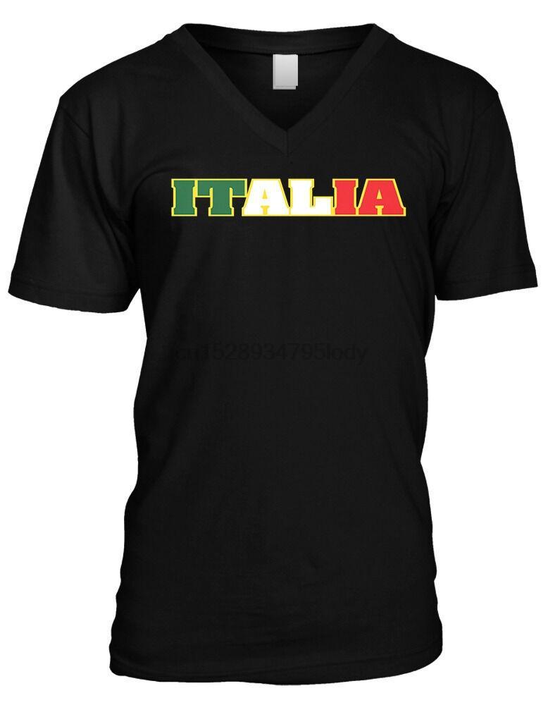 Italia Gras Italian Pride Italie Couleurs Pays Drapeau Hommes V designers hoodie cou t-shirts sweat-shirt