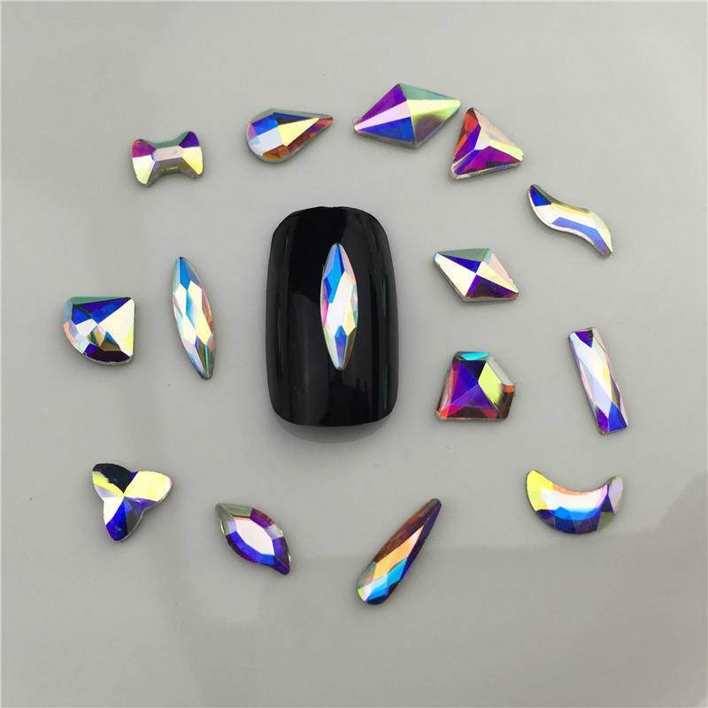 1 قطع بلورات مسمار الماس الحجر strass ab الزجاج الراين ل 3d الأظافر الفن ديكورات الإمدادات مجوهرات QB217-246A