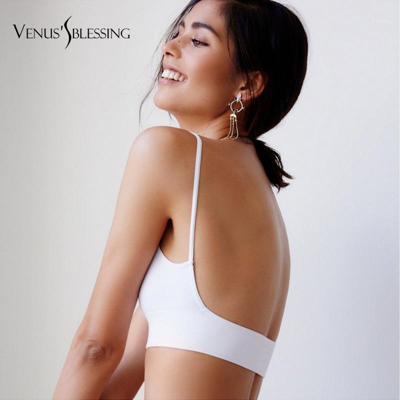 Bras Fashion Women Sexy Bra Thin Cotton Solid Color Backless Lingerie Nightwear Bralette For Women1