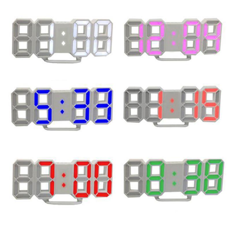 3D цифровой настольные часы настенные часы LED ночник Дата Время Celsius Дисплей тревоги USB Snooze Домашнее украшение Гостиной