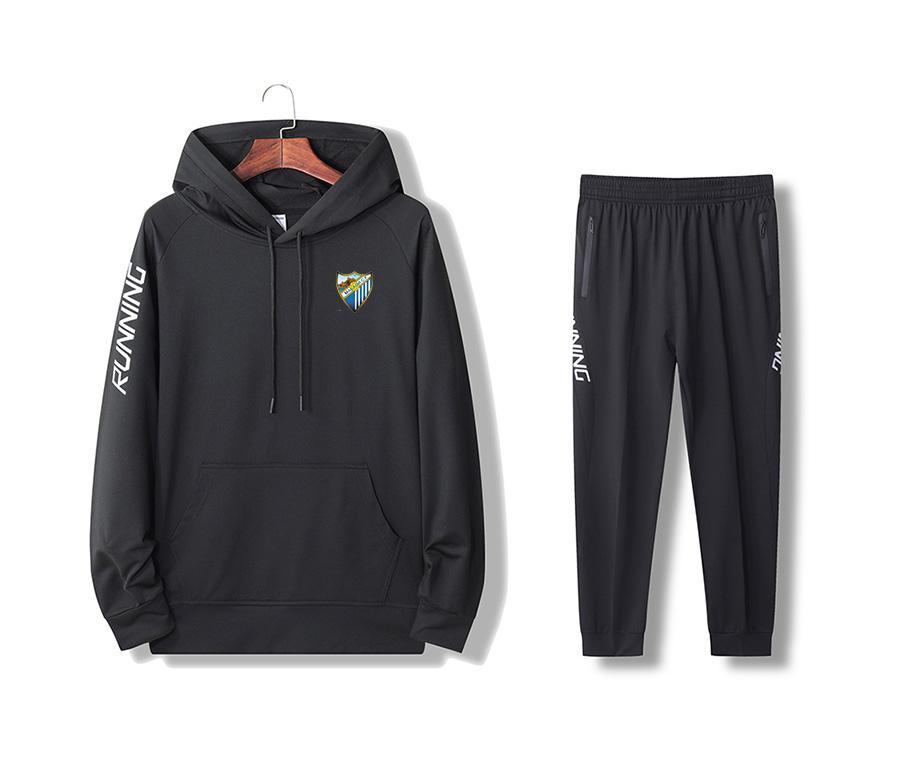 Лучшей Малага куртка Pant футбол Tracksuit Размер S Мужчины Обучение Наборы с футбольным Логотипом для взрослых спортивных XXL
