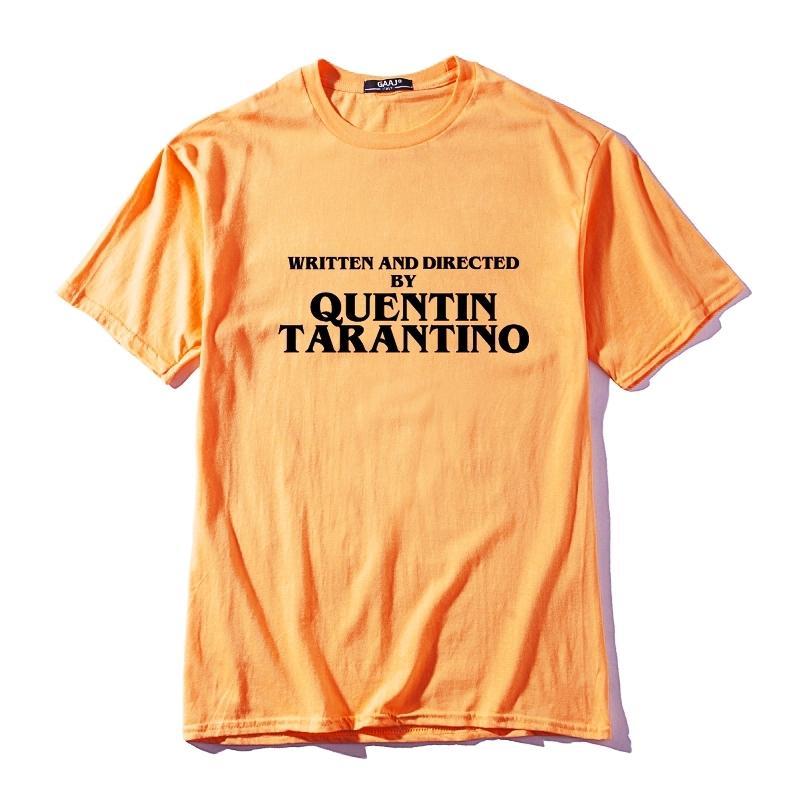 Quentin Tarantino tarafından Yazılı ve Yönlendirilmiş Erkekler T Gömlek Streetwear Hip Hop T-shirt Giyim Kadın Adam Pamuk Tshirt Sarı Eğlenceli Tee T200517