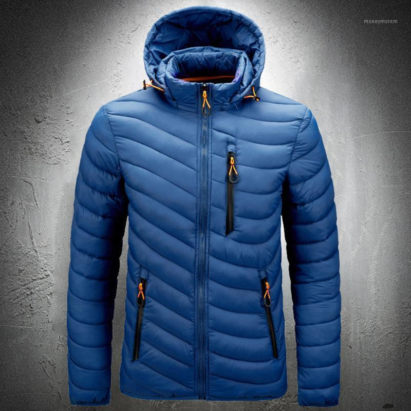 Herren Parka Jacke Herbst Winter Dicke Warme Mantel Plus Größe Mit Kapuze Outwear Mantel Dicke Baumwolle Gepolsterte Kugeljacke Mens Jacken1