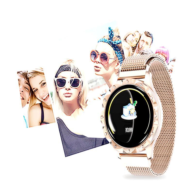 Waterproof SmartWatch D18 Smart Watch Women Blood Pressure/Blood Oxyge Monitor Smart Bracelet Wristband Fitness Tracker for Andriod IOS