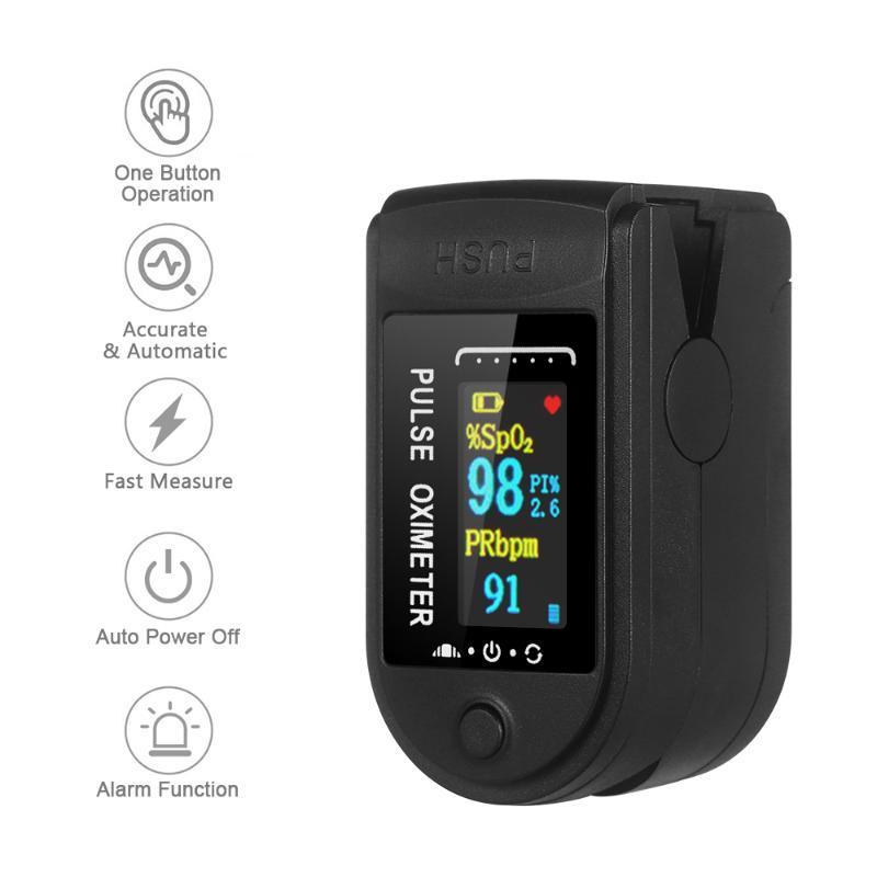 QUENTE! O oxigênio arterial Monitor Dedo Saturação de Oxigênio Monitor de transporte rápido dentro de 24 horas (sem bateria)